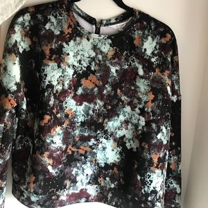 BCBG neoprene multi colored long sleeve